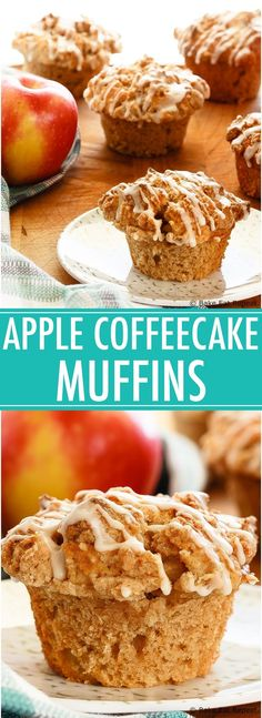 4 Points About Vintage And Standard Elizabethan Cooking Recipes! Apple Muffins With Crumb Topping - Quick And Easy Apple Muffins Filled With Apples And Finished With A Crunchy Cinnamon Crumb Topping. The Best Kind Of Breakfast. Quick Apple Dessert, Apple Dessert Recipes, Easy Desserts, Cake Recipes, Sweets Recipes, Recipes Dinner, Yummy Recipes, Apple Recipes Easy, Easy Cookie Recipes