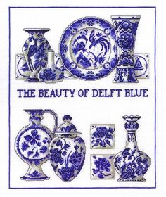 Job Lot 5 Pce Delft Blue 1 Other Small Vase 2 Lidded Trinket Dishes 2 Clogs
