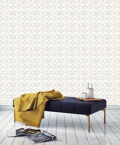 BRADLEY USA │Victoria Larson Fleur De Sel Wallpaper in Pebble │coming soon to shop.bradley-usa.com #bradleyusa