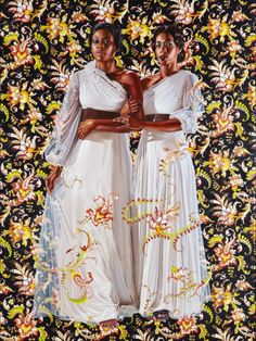 Kehinde WileyAmerican, born 1977  Two Sisters, 2012  Oil on linen 96 x 72 in.  Kehinde Wiley is an acclaimed contemporary painter who is widely recognized for his portraits referencing the art of the Old Masters. (The painting above is one such example, based on Les deux sœurs by French Romantic painter Théodore Chassériau.) His portraits elevate contemporary African-American subjects – frequently wearing sneakers, sweatpants, and other articles of clothing associated with hip-hop cu...
