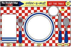 Set the Table Color-A-Mat #Disney