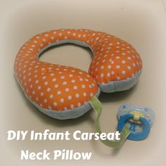 DIY Infant Carseat Neck Pillow - Reversible - Pacifier Tether