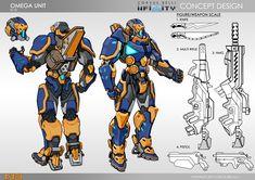 My Omega Unit design for Infinity, Corvus Belli Game Character Design, Character Sheet, Character Concept, Game Design, Character Art, Infinity Art, Infinity The Game, Corvus Belli Infinity, Cool Robots
