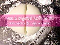 Marshmallow fondant for cake pops - I quartered the recipe.