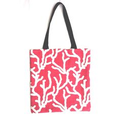 Coral design luxurious tote bag by RhapsodyInc on Etsy