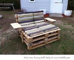 Recycled furniture for out by the pool maybe?