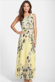 Print Chiffon Maxi Dress, for a relaxing summer with style