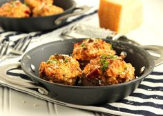 Sweet and Spicy Sausage Stuffed Mushrooms | The Suburban Soapbox