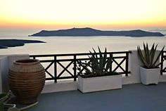 Sunset, Santorini, Holidays, Greece