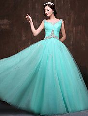 Formal Evening Dress Ball Gown Scoop Floor-leng... – USD $ 179.99