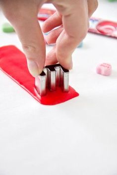 Use Airhead taffy to cut out letters for birthday cakes! This might actually be one of the best life hacks EVER..