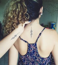 tattoos mom and daughter small - tattoos mom and daughter ; tattoos mom and daughter small ; tattoos mom and daughter matching ; tattoos mom and daughter ideas Tattoos Bein, Mom Tattoos, Trendy Tattoos, Body Art Tattoos, Small Tattoos, Tatoos, Soul Sister Tattoos, Script Tattoos, Spine Tattoos
