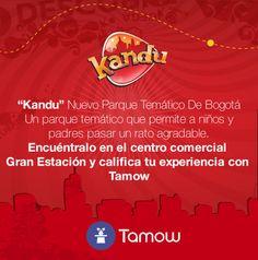 """Les #Recomendamos el nuevo parque temático de Bogotá """"kandu"""" ubicado en Gran Estación Centro Comercial califiquen su experiencia con Tamow aqui: http://tamow.com/download"""