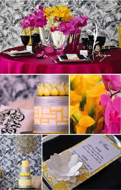 The Wedding Decorator: Lemon and Fuchsia Colour Combo for Weddings