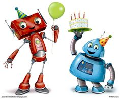 Happy Birthday from the friendly robots<3