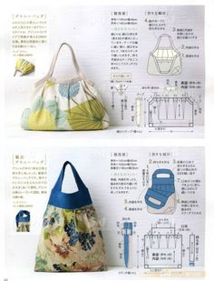 Free Purse Pattern - the first one would make a great fashion doll purse.