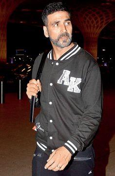 Akshay Kumar spotted at Mumbai airport. #Bollywood #Fashion #Style #Handsome