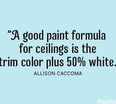 Paint formula for ceilings