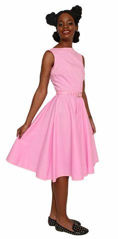 Pockets Cool Cotton Print Vintage Dress Plus Size XXL Ric Rac Trim Hey Viv