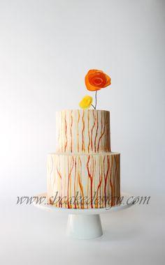 Shannon Bond Cake Design / Modern Painted Buttercream Cake / www.sbcakedesign.com