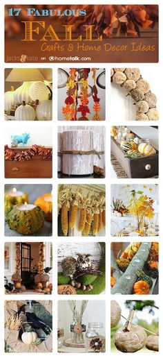 17 Fabulous Fall Crafts & Home Decor Ideas | curated by 'Jacks & Kate' blog!
