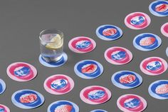 Print and packaging design by graphic design studio Mucho for Barcelona-based hotel Casa Bonay. Brand Identity Design, Branding Design, Casa Bonay, Restaurant Logo Design, Web Design, Beer Mats, Pubs And Restaurants, Coaster Design, Graphic Design Studios