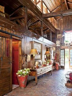 Restore a barn to live in