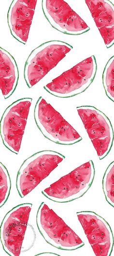 Good objects - Watermelon watercolor illustration pattern