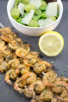 Grilled Shrimp with Lemon and Oregano | Greek Style Shrimp | Lemon & Olives | Greek Food & Culture Blog