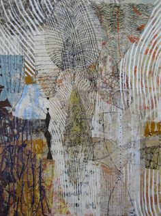 Eva Isaksen - Works on Canvas Collages, Painting Collage, Paintings, Collage Art Mixed Media, Painting Inspiration, Textile Art, Altered Art, Printmaking, Paper Art