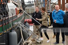 Catherine, Duchess of Cambridge arrives to board the tall ship, Pacific Grace, before sailing with members of the Sail and Life Training Society at Victoria Inner Harbour on the final day of their Royal Tour of Canada on October 1, 2016 in Victoria, Canada. The Royal couple along with their Children Prince George of Cambridge and Princess Charlotte are visiting Canada as part of an eight day visit to the country taking in areas such as Bella Bella, Whitehorse and Kelowna  (Photo by Dominic…
