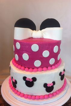 I'm obsessed with Minnie Mouse themed little girl parties