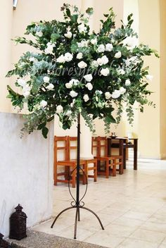 Wonderful Green and White Flowers Arrangement to Match in Any Special Moments Wedding Ceremony Ideas, Church Wedding, Altar Flowers, Church Flowers, Wedding Flower Packages, Wedding Flowers, Flower Decorations, Wedding Decorations, Wedding Pillars