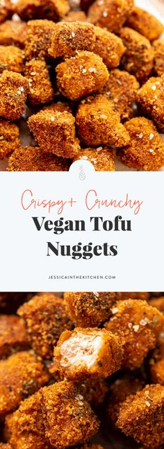 Prepare to be blown away by these Crispy and Crunchy Tofu Nuggets, that are my vegan version to popcorn chicken! Tofu Recipes, Delicious Vegan Recipes, Whole Food Recipes, Vegetarian Recipes, Vegan Foods, Vegan Dishes, Vegan Meals, Sin Gluten, Gluten Free