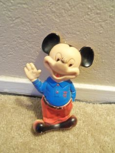 Vintage Mickey Mouse Squeaky Toy  1965 Walt by doyourememberwhen