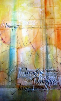 Mixed Media paintings by Jacqueline Sullivan using StencilGirl stencils and QoR Watercolor by Golden.