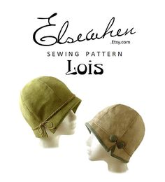 SEWING PATTERN Lois 1920s Twenties Cloche by ElsewhenMillinery