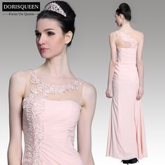 Free shipping ready to wear mermaid high-slit pink long evening dresses 2015/wedding party dresses 31088