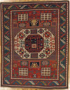 "Karatchoph Kazak,Southwest Caucasus,circa 1880.Measurements of the piece:6'.6""X5'.0"" (198X152 cm). | Hagop Manoyan, New York"