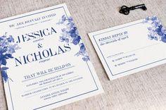China Blue Wedding Invitation by KlapauciusCo on Creative Market