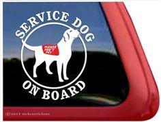 Service Dog Labrador Retriever Decals & Stickers | NickerStickers