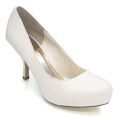 Essex Glam - Damen Glitzer Mittelhoher Absatz Braut Hochzeit Ball Party Schuhe Größe 36 - 41 - Synthetik, 3 UK / 36 EU, Weiß silber - http://on-line-kaufen.de/fashion-5/36-eu-3-uk-essex-glam-damen-glitzer-mittelhoher-36