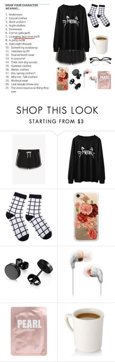 """NAILS FOR BREAKFAST, TACKS FOR SNACKS//P!ATD"" by win-ters ❤ liked on Polyvore featuring Monki, Casetify and Lapcos"