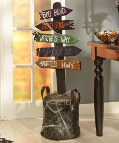 FloraCraft® Halloween Directional Sign  #halloween #craft