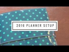 2016 Planner Setup - Inkwell Press A5 Inserts in a Filofax Domino - YouTube