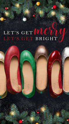 Let's get merry, let's get bright! May the Holiday Boutiek bring cheer and delight. | Tieks Ballet Flats