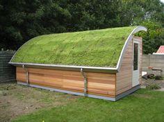 PAM - tuinhuis met groendak, Curved green roof