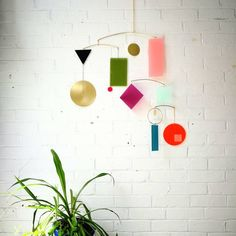 Abstract Geometric Mobile or Wall Art : Colour Block in Green