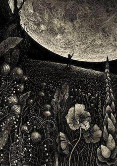 Happy Big Summer Moon.  Artwork by Magdalena Korzeniewska