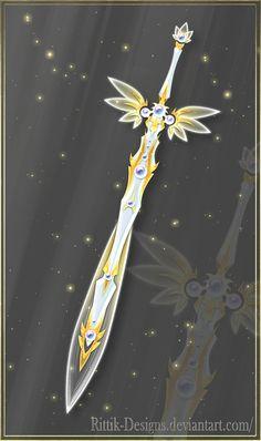 Holy Blade Longsword for aasimar dream druid Ninja Weapons, Cosplay Weapons, Anime Weapons, Fantasy Drawings, Fantasy Kunst, Fantasy Art, Art Drawings, Fantasy Sword, Fantasy Weapons